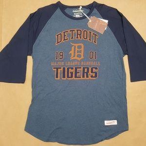 Mitchell & Ness Tigers Raglan T-Shirt Men Size XXL